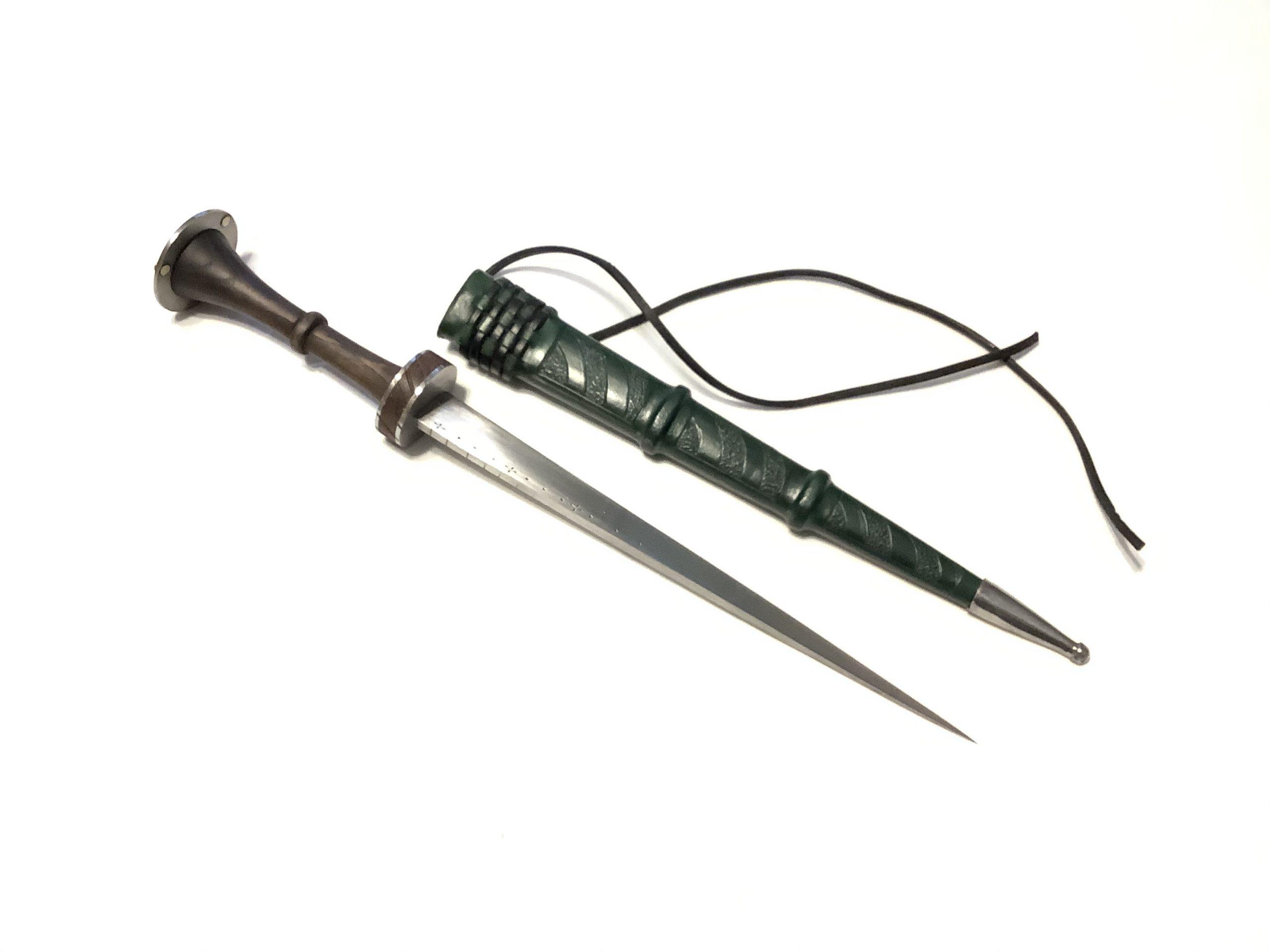 KH Richter Dagger and Scabbard Green (1)